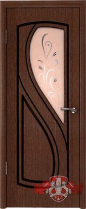 Дверь межкомнатная. Шпон. Венге