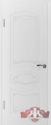 Дверь межкомнатная. Шпон. Белая эмаль