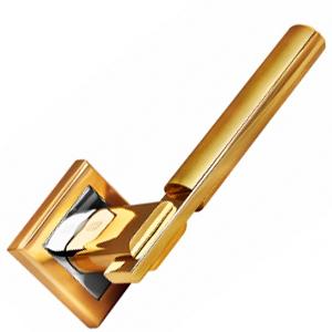 Ручка раздельная 294 золото матовое