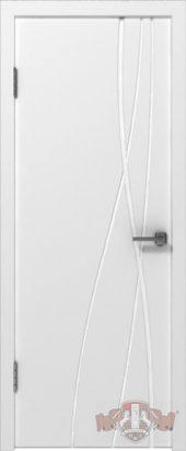 Дверь межкомнатная. Глянец. Белая эмаль