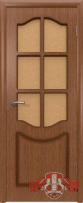 Дверь межкомнатная. Шпон. Орех
