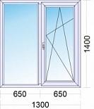 Двустворчатое пластиковое окно