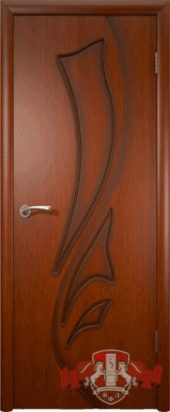 Дверь межкомнатная. Шпон. Красное дерево