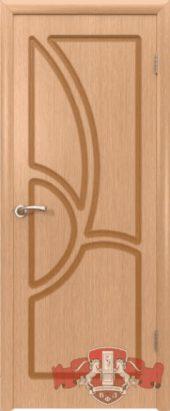Дверь межкомнатная. Шпон. Светлый дуб