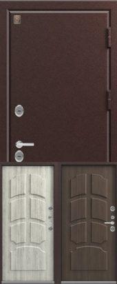 Дверь входная с терморазрывом Т2 медь металл 1,8мм. Влагостойкий МДФ
