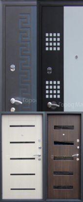 Входная дверь Волга с декоративными накладками.