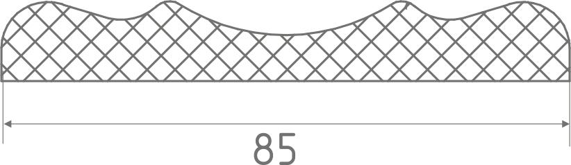 Наличник фигурный белая эмаль -2,15