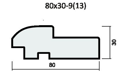 Комплект короба полукруглый 37мм экошпон, SoftWood
