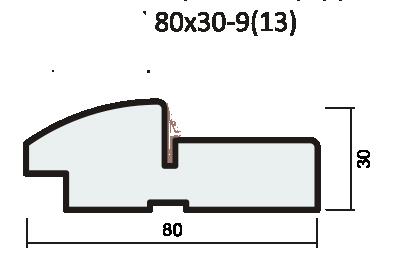 Комплект короба полукруглый 37мм с уплотнителем экошпон softwood