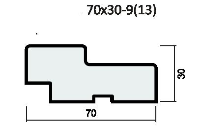 Комплект короба прямой 37мм с уплотнителем экошпон softwood