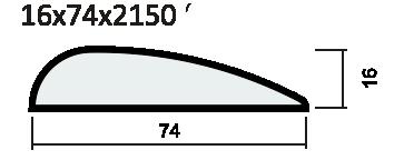 Наличник каплевидный ПВХ, экошпон
