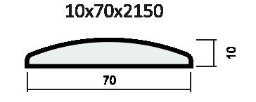 Наличник полукруглый ПВХ, экошпон