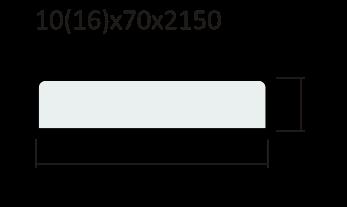 Наличник плоский ПВХ, экошпон
