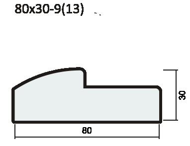Полукруглый порог 37мм ПВХ
