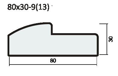 Полукруглый порог 37мм экошпон, SoftWood