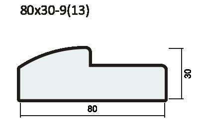Порог полукруглый 42мм ПВХ