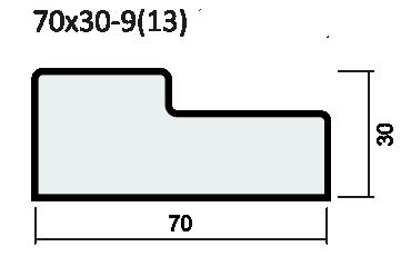 Прямой порог экошпон, SoftWood 37мм