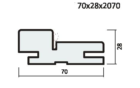 Короб ПВХ артшпон экошпон. С уплотнителем