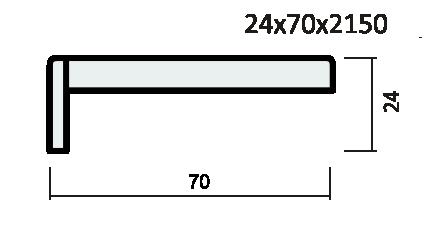 Наличник ПВХ экошпон артшпон, плоский.