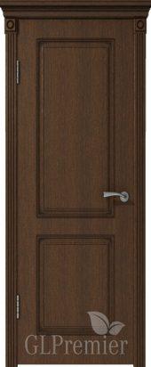 Межкомнатная дверь GL PREMIER без стекла с патиной