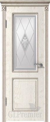 Межкомнатная дверь GL PREMIER со стеклом патированная ПВХ