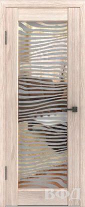 Л8П01 Межкомнатная дверь экошпон ВФД с большим стеклом