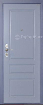 Входная дверь под голубую эмаль
