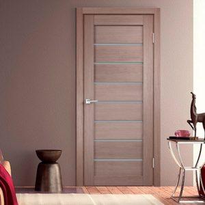 Интерьер с межкомнатной дверью - уника 1 3D экотекс