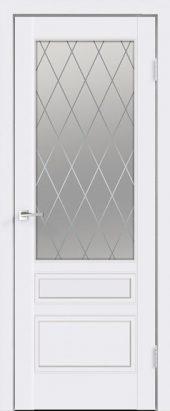Дверь межкомнатная белая эмаль SCANDI 3V