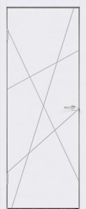 Дверь межкомнатная белая эмаль SCANDI S