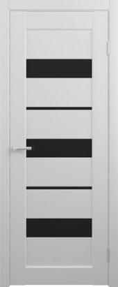 Дверь матовая межкомнатная Бостон Vinyl черное стекло