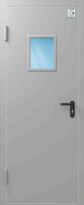 Дверь противопожарная со стеклом ДПД EIS30 880/2050