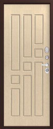 Железная дверь Эталон Х10, седой дуб