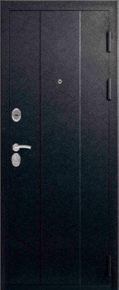Железная дверь Эталон Х16, черный шелк