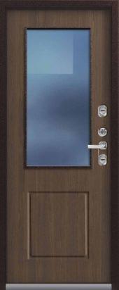 Входная дверь Центурион со стеклом, премиум Т-1, миндаль