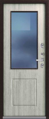 Входная дверь Центурион со стеклом, премиум Т-1, полярный дуб
