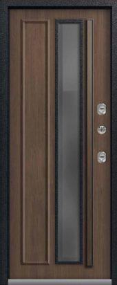 Входная дверь со стеклопакетом, премиум Т-5, миндаль