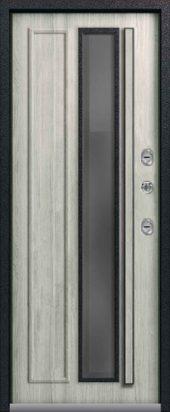 Входная дверь со стеклопакетом, премиум Т-5, дуб полярный