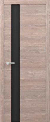 Дверь Статус G ТМ дуб карамельный с черным стеклом