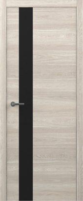 Дверь Статус G ТМ дуб южный с черным стеклом