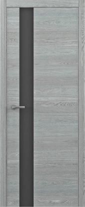 Дверь Статус G ТМ дуб скальный с черным стеклом