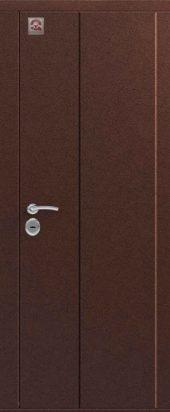 Двустворатая уличная дверь С-130. Металл/металл