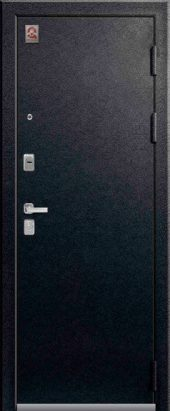 Входная дверь с зеркалом Lux-1 черный муар