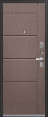 Входная дверь с молдингом Lux-2 софт ясень грей