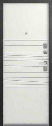 Входная дверь в современном стиле Lux-5 милк-софт