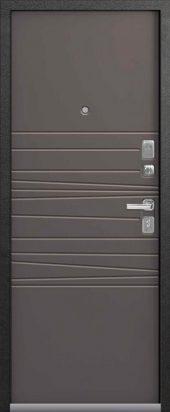 Входная дверь в современном стиле Lux-5 смоки софт