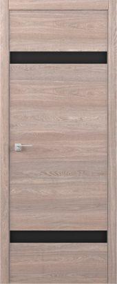 Дверь межкомнатная Статус S карамель черное стекло