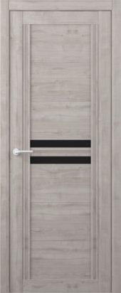 Дверь межкомнатная Вест Каролина графит черное стекло