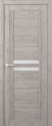 Дверь межкомнатная Вест Каролина графит белое стекло