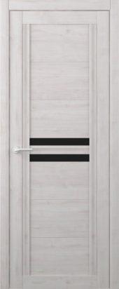 Дверь межкомнатная Вест Каролина жемчуг черное стекло